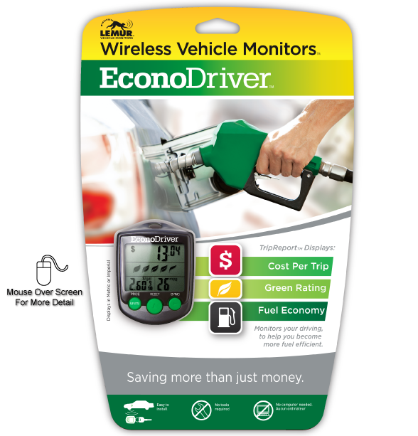 Lemur Monitors EconoDriver Front Package