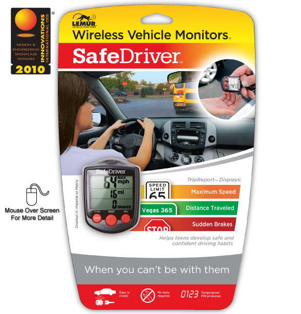 Lemur Monitors SafeDriver Front Package
